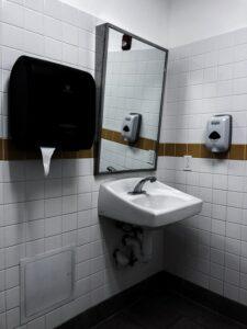 sink-paper-towel-dispenser-and-soap