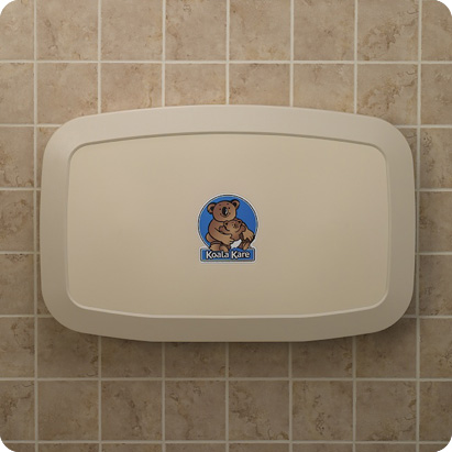 baby-changing-station-on-wall